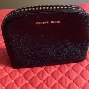 MK navy cosmetic bag